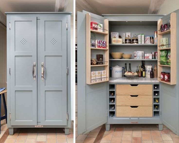 Nice Free Standing Pantry Part - 12: Free Standing Kitchen Pantry. You Could Make Something Like It From A TV  Armoire , Or Other Wood Cabinet You No Longer Use. Or A Craft Closet! Vertu2026