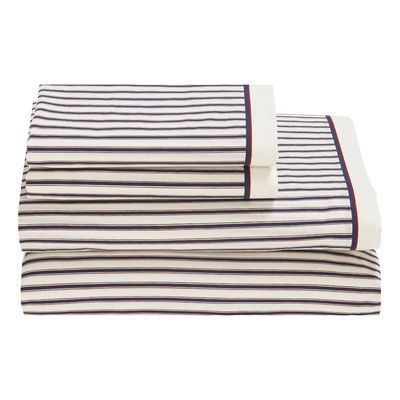 Tommy Hilfiger Ticking Stripe 180 Thread Count Sheet Set by Tommy Hilfiger Size: Twin XL
