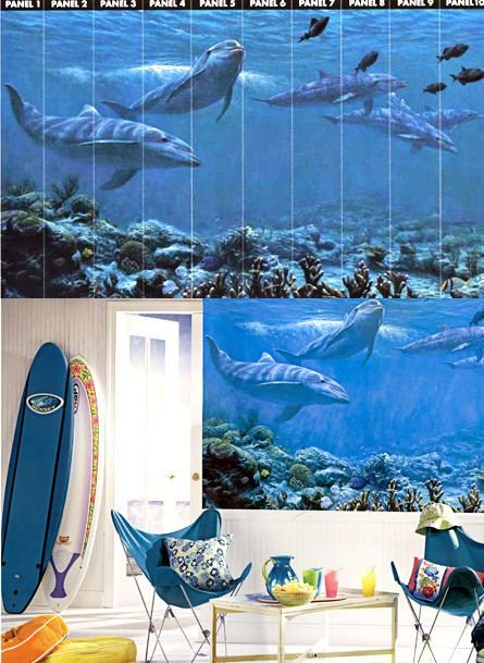 Best 25 dolphin bedroom ideas on pinterest a dolphin for Dolphin wall mural