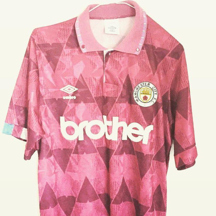 1990-92 Manchester City away shirt L 44.99 vintage Umbro shirt - get yours  #manchestercity #mcfc #footballshirtcollective