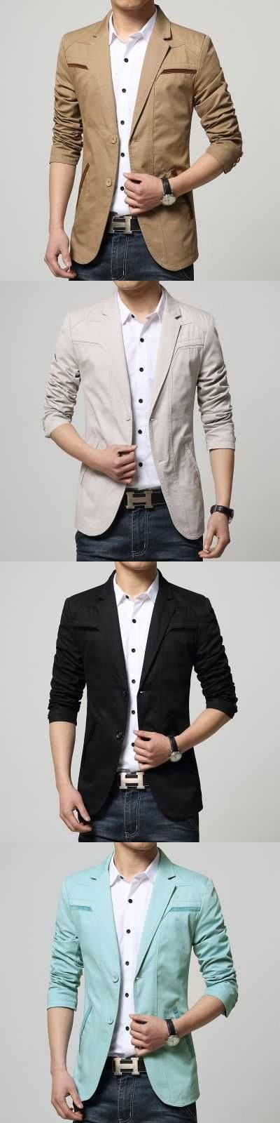High Quality New 2016 Fashion Mens Cotton Blazer Men Suit Slim Fit Jacket Men'S Blazer Classic Blazer For Male Coat A3841