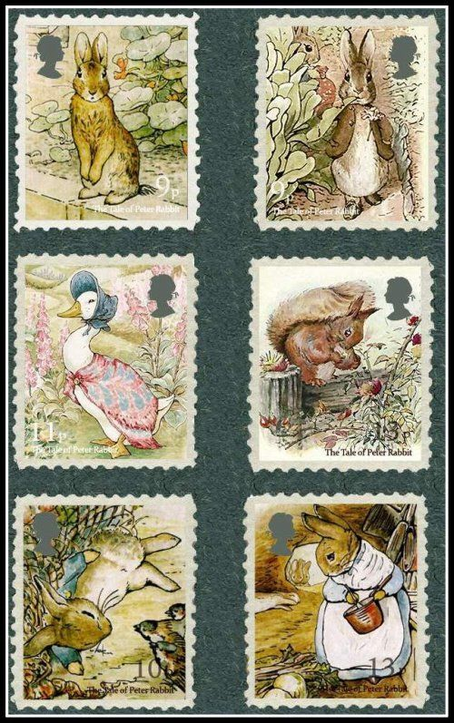 Beatrix Potter Stamps | Royal Mail | Content in a Cottage