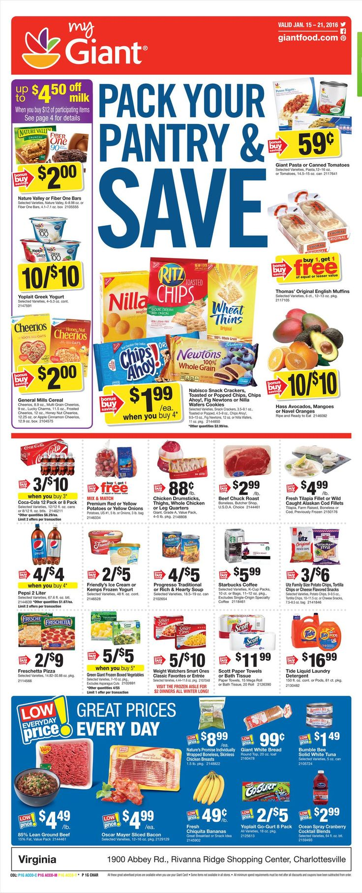 Giant Food Weekly Ad January 22 - 28, 2016 - http://www.olcatalog.com/grocery/giant-food-weekly-ad.html