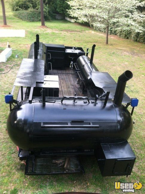 Triple BBQ Smoker Grill Concession Trailer for Sale in Georgia - Small 3