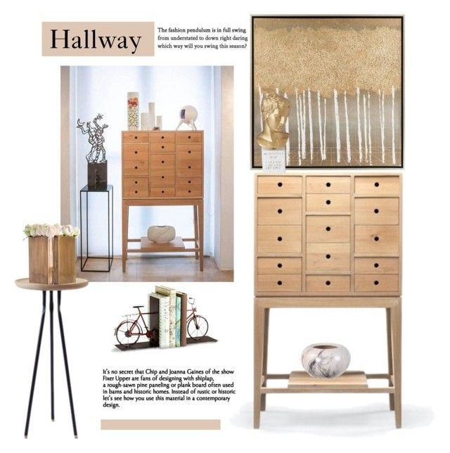 """""""Hallway"""" by cruzeirodotejo ❤ liked on Polyvore featuring interior, interiors, interior design, home, home decor, interior decorating, WeWood, Cyan Design, Surya and Sophia"""