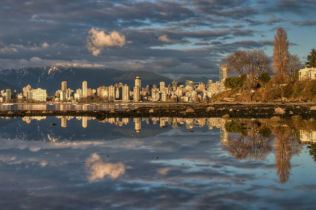 Low Tide Reflection by `James Wheeler, taken from Kitsilano of downtown...stunning!James Of Arci, Visual Vancouver, Amazing Reflections, Nature, Vancouver Vibes, Obligatori Places, Places I D, Carousels, Gorgeous Vancouver