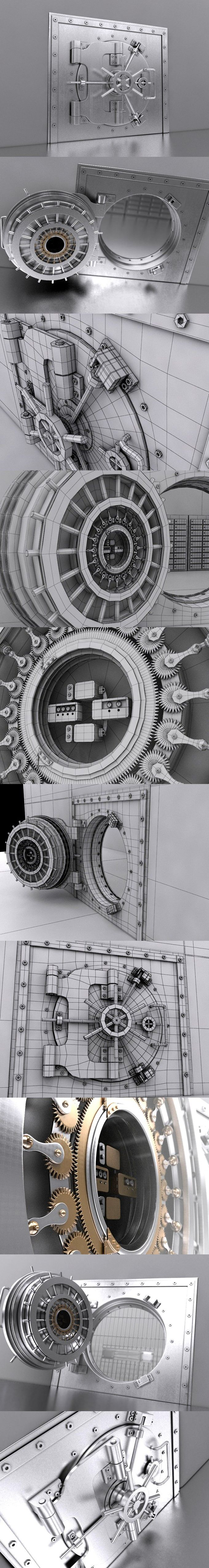 Bank Safe Vault. 3D Objects