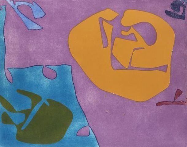 Patrick Heron Untitled 1980 etching and aquatint