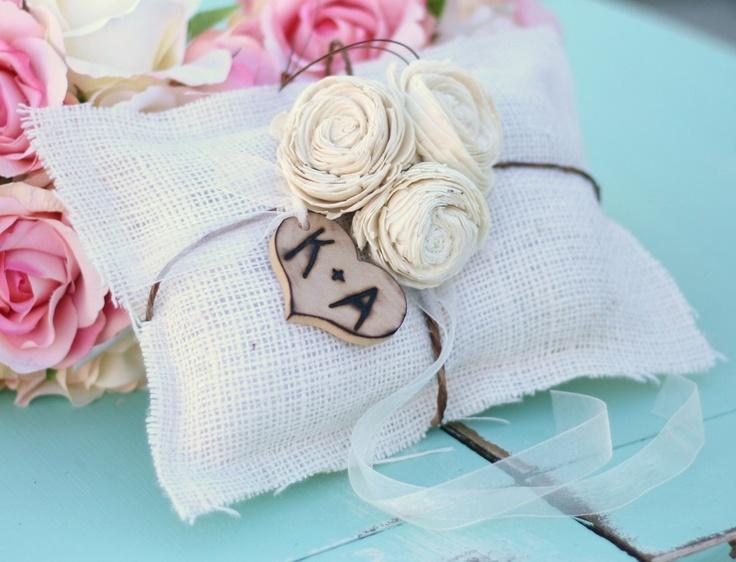 for natallie's wedding? SUPER cute ring bearer pillow
