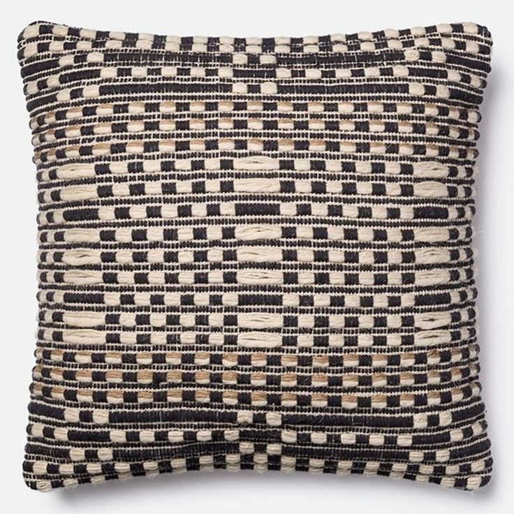 an artful finishing touch for your global chic home the hettie throw pillow from magnolia home features a wovenin pattern made with natural colored yarns