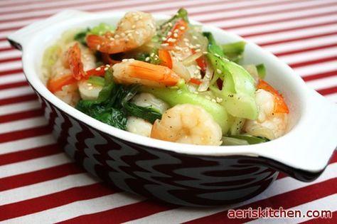 Shrimp & Bok Choy DeopBap | Aeri's Kitchen | Cooking Korean Recipes & Food