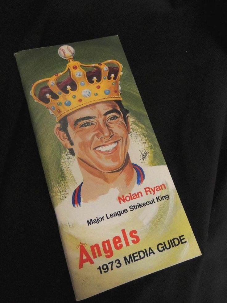 VTG Media Book Press Guide Radio Angels MLB Baseball 1973 Roster Nolan Ryan CA