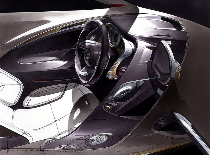 Automotive design: Car interior concept sketch