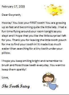 Tooth Fairy Mini Letter                                                                                                                                                      More