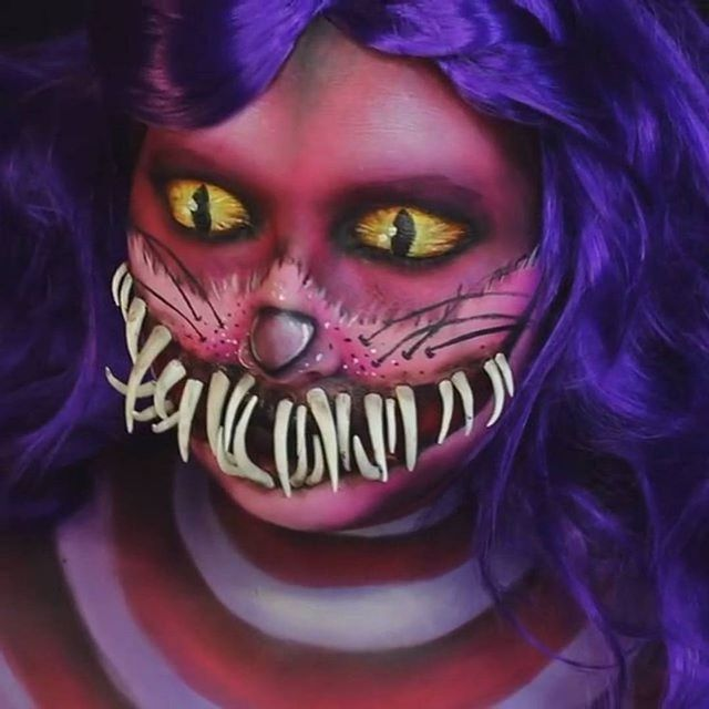 Чеширский кот  ❤️ Лайк, если понравилось   Отмечайте друзей под видео ✅ Подписывайтесь на @grimvideo ➖➖➖➖➖➖➖➖➖➖➖➖ #грим #greasepaint #makeup #макияж #мейкап #чеширскийкот