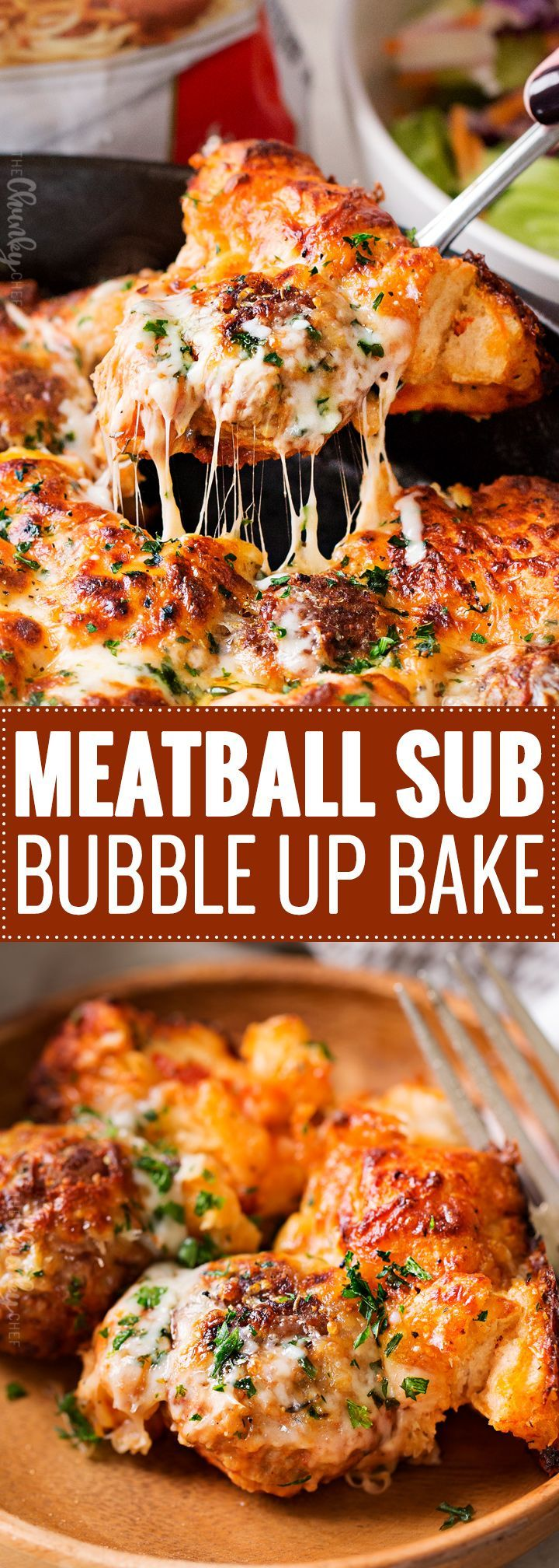 Meatball Sub Bubble Up Bake | This bubble up bake tastes just like a great meatball sub and a casserole, made in one pan!  Sure to be a weeknight favorite with both kids and adults!