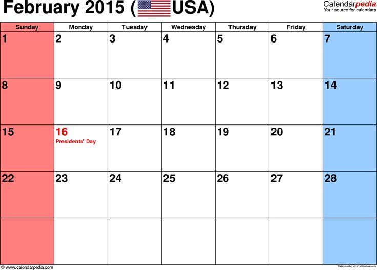 12 Best Calendar Images On Pinterest 2015 Calendar Printable Pdf