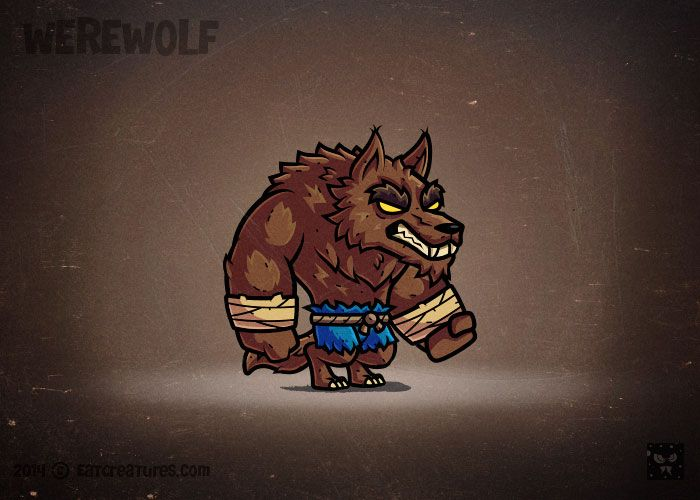 Cartoon Werewolf - EatCreatures - Marketplace for royalty free game art…