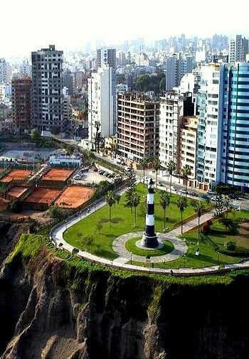Miraflores, Lima, Peru. Miraflores is a district of Lima. Known for its shopping areas, gardens, flower-filled parks and beaches, it is one of the upscale districts that make up the city of Lima.    RESPONSible Travel Peru