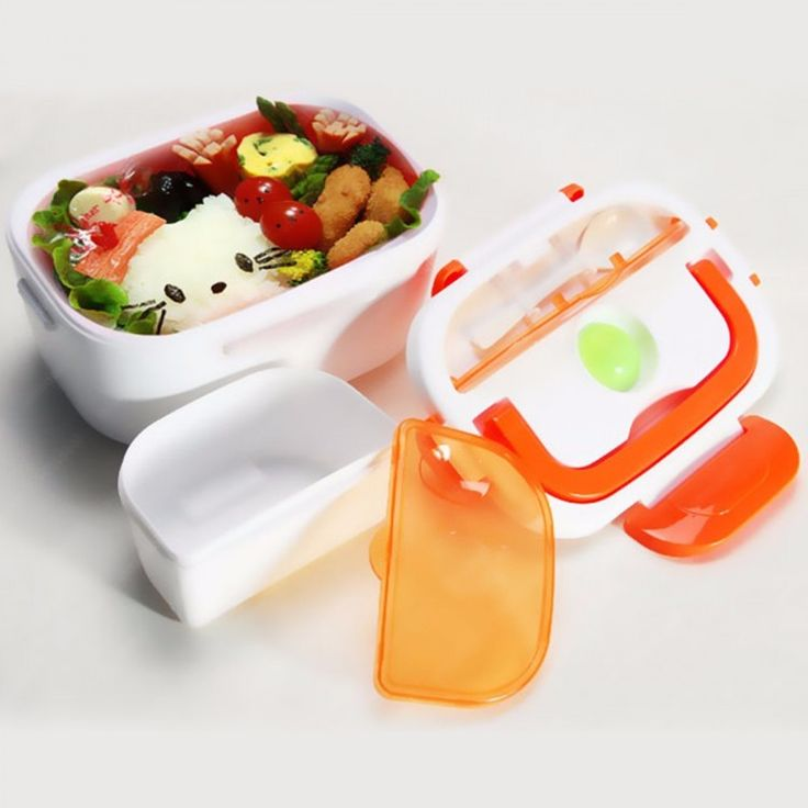 Kawachi Plastic & Stainless Steel Electric Lunch Box In Orange Color  #lunchboxes #Homeandkitchen #Discounts #Offer #ebizy