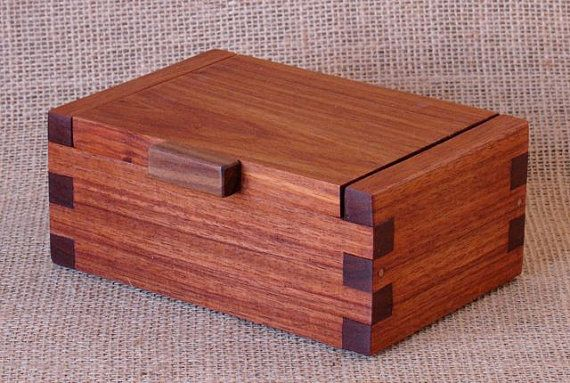 Look at the craftsmanship in his work....exquisite. Custom Wooden Box Macacauba with Walnut Lift by WoodworksbyJohn, $75.00