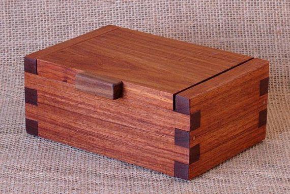 Custom Wooden Box Macacauba with Walnut Lift by WoodworksbyJohn, $75.00