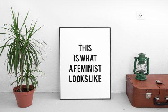 Feminist Printable Feminism Girl Power Feminist Gift