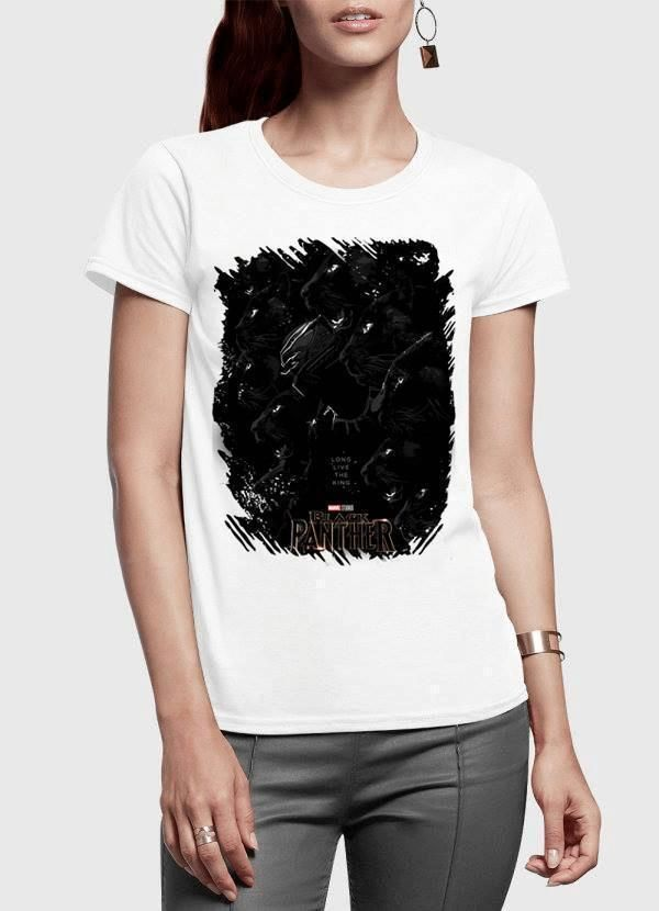 c14ff2067 Long Live the King Black Panther Half Sleeves Women T-shirt in 2019 ...
