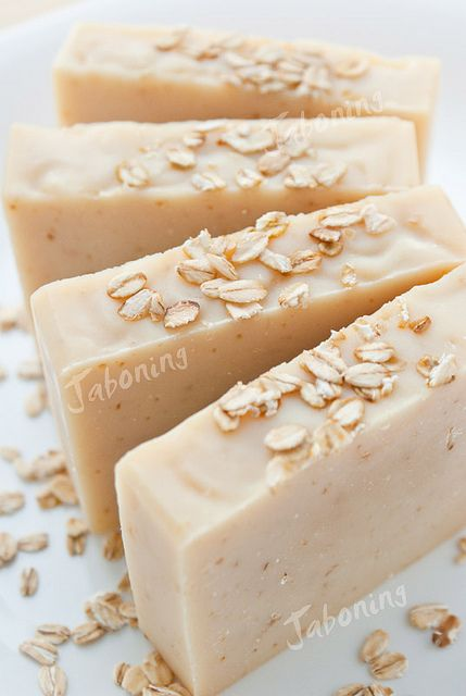 Goat milk & oatmeal soap- I want to try to make this!