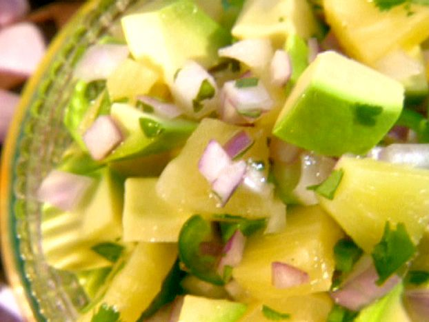 Pineapple and Avocado Salsa from FoodNetwork.com