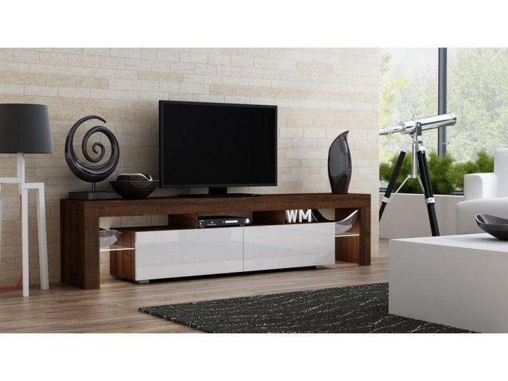 Milano 200 walnut modern TV stand