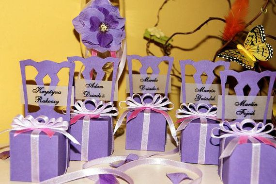 Chair Party Favors Box Bomboniere in SVG MTC by MartaZylaDesign, $5.00