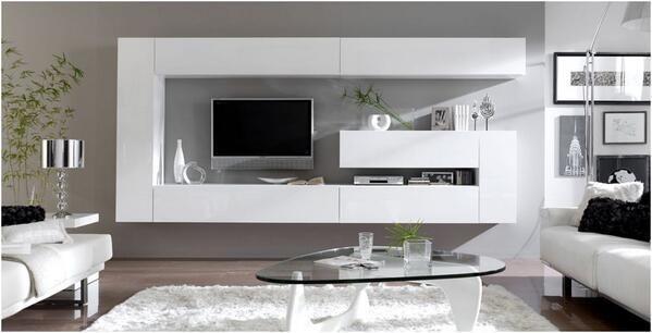 Sal n moderno muebles furniture for Muebles modulares living