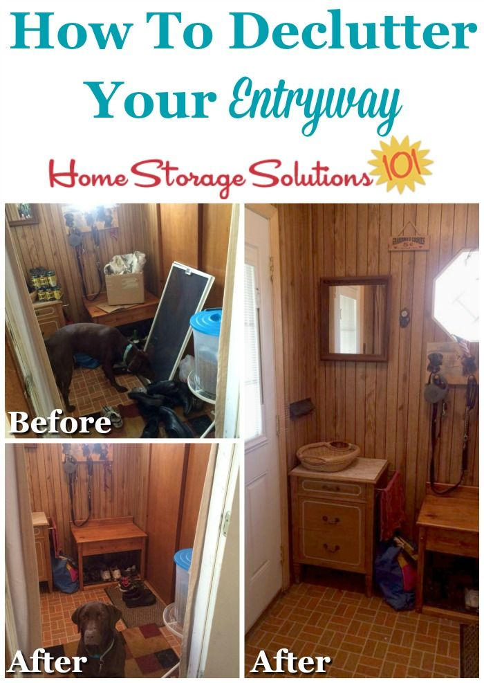 How To Declutter Your Entryway Or Foyer Home Storage Solutions Declutter Decluttering Inspiration