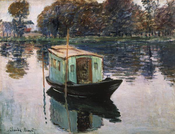 Claude Monet - The Studio Boat.