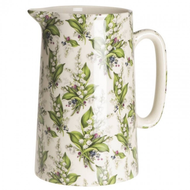 Lily of the Valley Pottery Jug