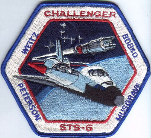 Mission Patches On Mission 4 To The International Space: Space Shuttle Challenger STS 6