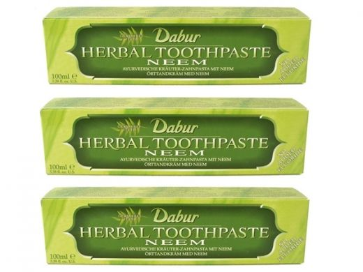 Dabur ajurwedyjska pasta do zębów Neem  Dabur herbal toothpaste Neem More: http://www.etnobazar.pl/search/ca:kosmetyki?limit=128