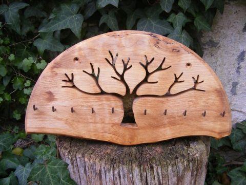 Hollossybela - Fali kulcstartó, ékszertartó, akasztó, Mindenmás, Otthon, lakberendezés, Kulcstartó, Tárolóeszköz, Hegyi juharfából készült falra szerelhető #tree #wood