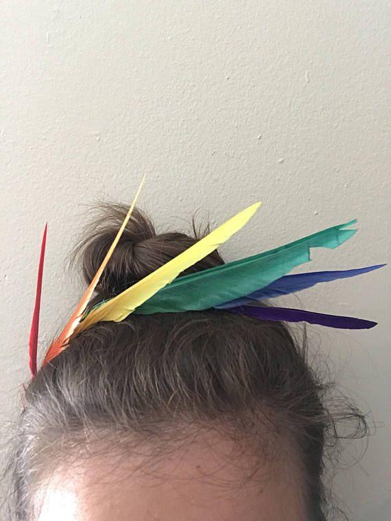 Pride headband rainbow headband ready to ship adult hair
