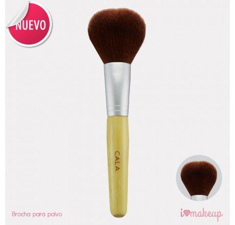 Brocha para polvo Suavecita y tupida para aplicación de polvo en el rostro.