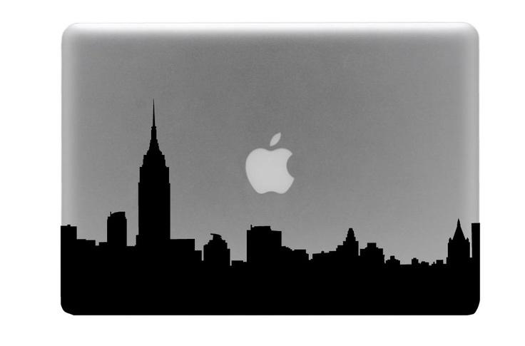 New York Skyline Macbook Decal / Macbook Sticker / Laptop Decal. $8.99, via Etsy.
