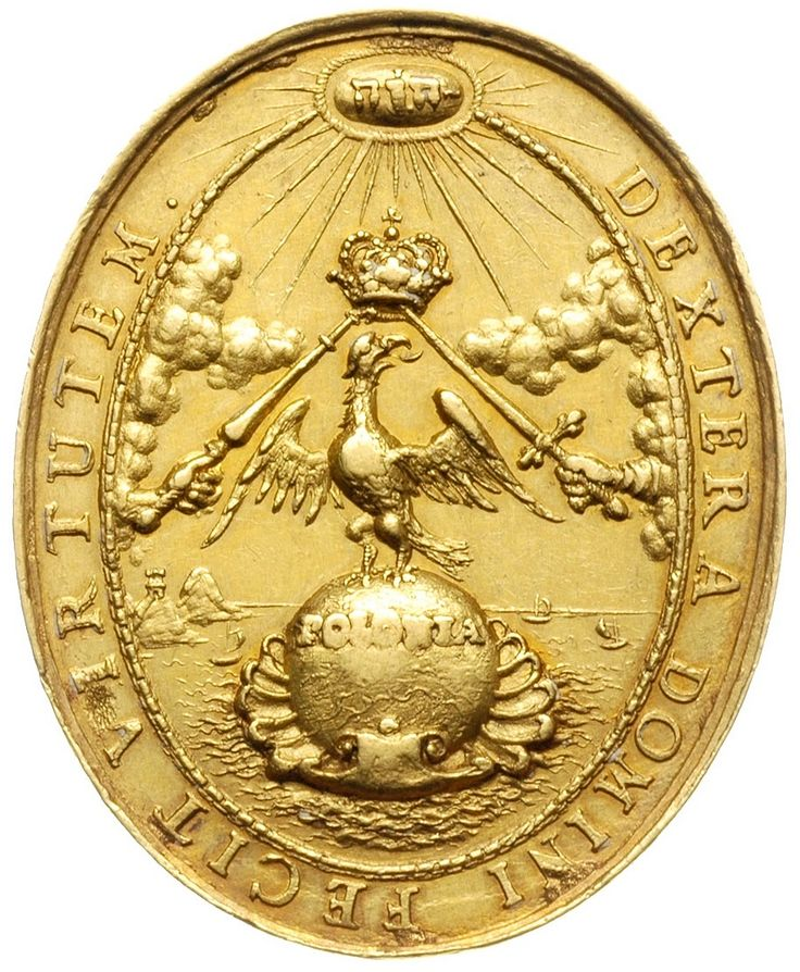 Reverse of the coronation medal of Michael Korybut Wiśniowiecki by Johann Höhn, 1669, Private collection
