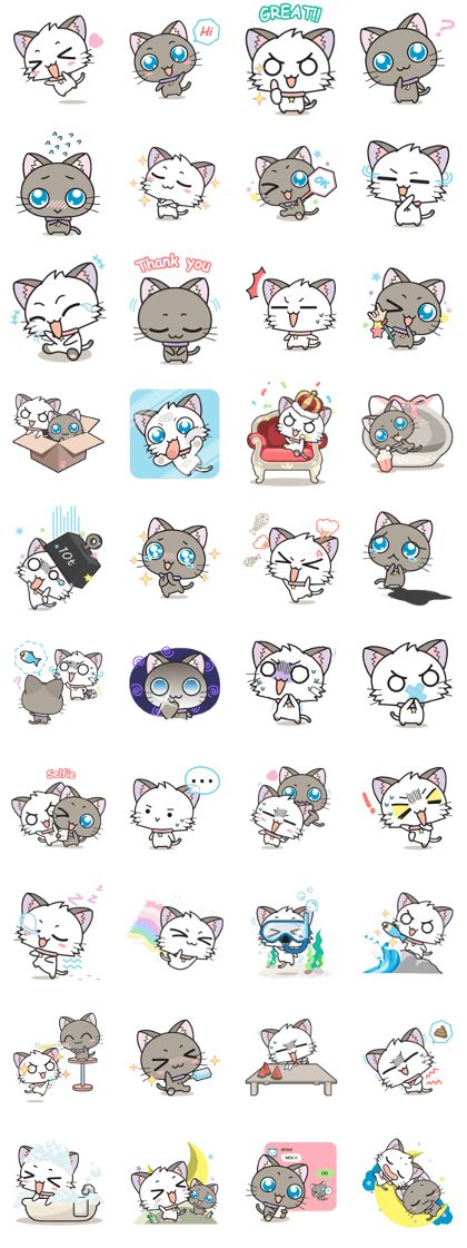 """Don't miss!! for all cat lovers! """"Hoshi & Luna"""" the naughty cats will bring big smiles to you and your friend."""