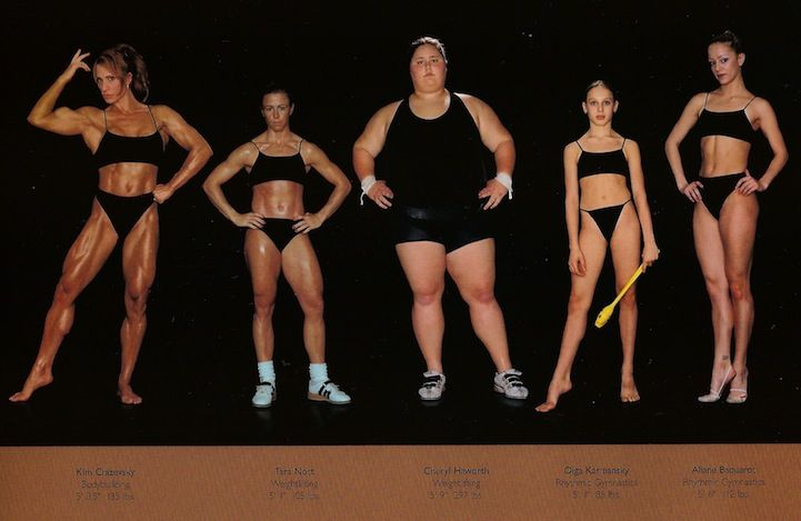 Olympic Athletes, all. Comparing Vastly Different Body Types of Olympic Athletes - My Modern Metropolis by photographer, Howard Schatz