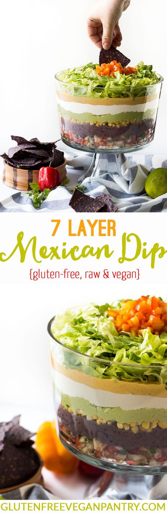7 Layer Vegan Mexican Dip - vegan + gluten-free   glutenfreeveganpantry.com
