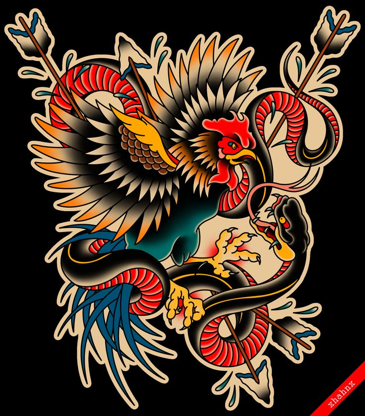229 best old school tattoo images on pinterest american traditional rooster and snake tattoo flash fandeluxe Epub