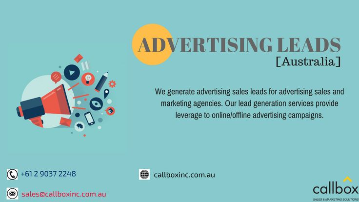 Callbox Australia helps you get qualified advertising sales leads by promoting your advertising services to high profile decision makers. Start converting more customers today!