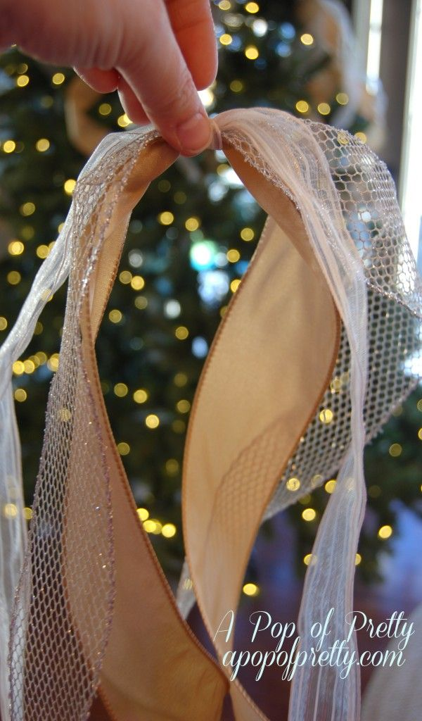 How to Add Ribbon to a Christmas