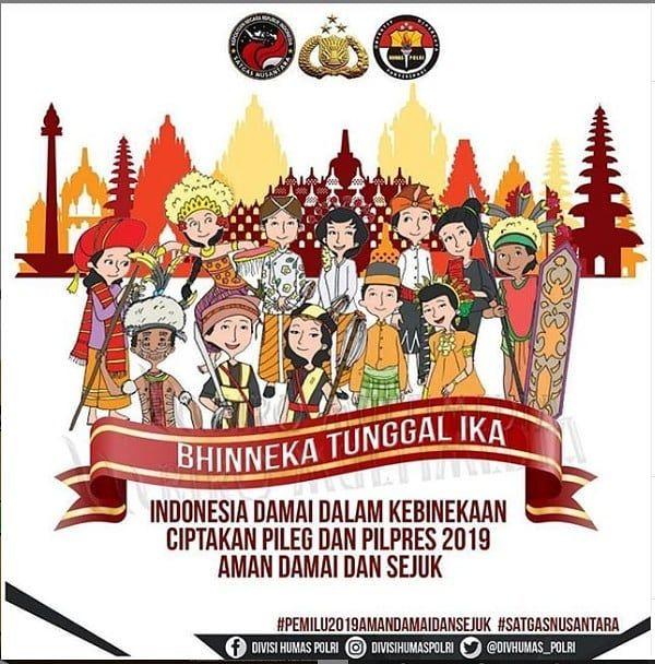 Bhineka Tunggal Ika Divisihumaspolri Hmspoldajateng Humasrespemalang Abdinega Di 2020 Gambar Poster Indonesia